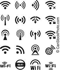 zwanzig, wifi, satz, heiligenbilder