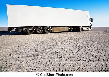 zware, vrachtwagen