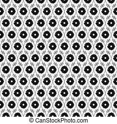 zwart wit, bloem, herhalen, model, achtergrond