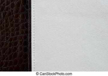zwart wit, leder, textuur, achtergrond