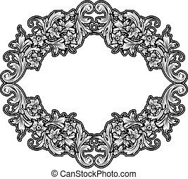 zwart wit, ouderwetse , frame
