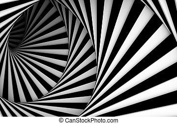 zwart wit, spiraal