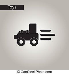 zwart wit, stijl, speelbal, tractor