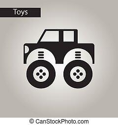 zwart wit, stijl, speelgoedauto