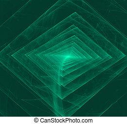 zwarte achtergrond, model, abstract, fractal