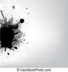 zwarte blob, sterretjes
