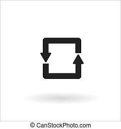 zwarte cirkel, pijl, lijn, pictogram
