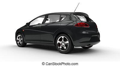 zwarte familie, auto, 2