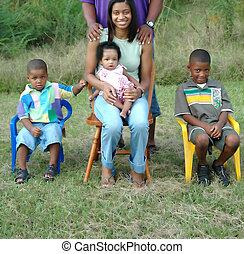 zwarte familie