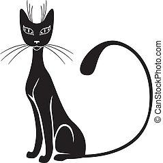 zwarte kat