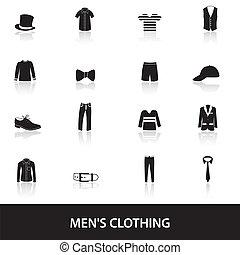 zwarte kleding, eps10, mens