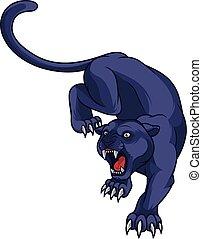 zwarte panther, aanvallen