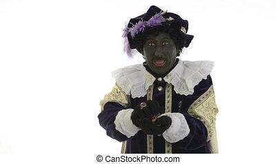 Zwarte Piet is giving gingernuts