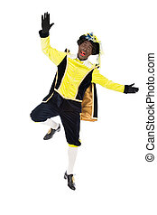 zwarte piet sinterklaas (black pete) - jumping zwarte piet (...