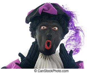 """Zwarte Piet is a Dutch tradition during \""""Sinterklaas\"""",..."""