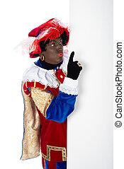 Zwarte Piet with whiteboard - Zwarte Piet is a character,...