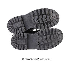 zwarte schoen, sole.