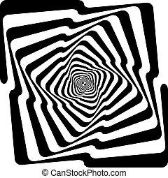 zwarte slang, oneindig, trap, spyral, perspectief