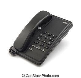 zwarte telefoon