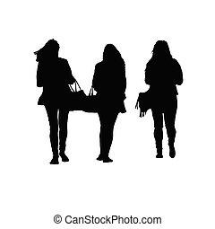zwarte vrouw, vector, silhouette, sensueel