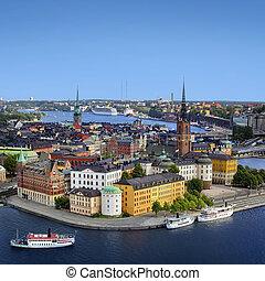 zweden, panorama, stockholm