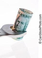zweeds, crowns., swedish valuta