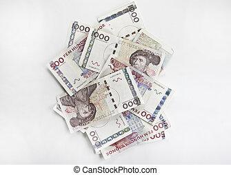zweeds, geld, rekeningen