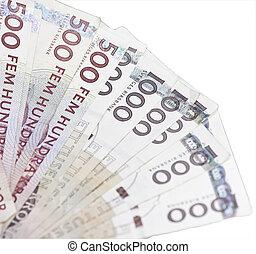 zweeds, rekeningen, kronor, 500, 1000