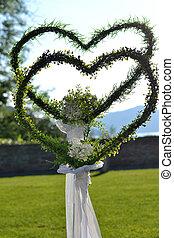 zwei Herzen als Symbol einer Hochzeit - two hearts as symbol...