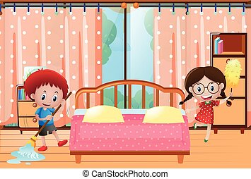haus kinder putzen kinder haus whie abbildung putzen clipart vektor suchen sie nach. Black Bedroom Furniture Sets. Home Design Ideas