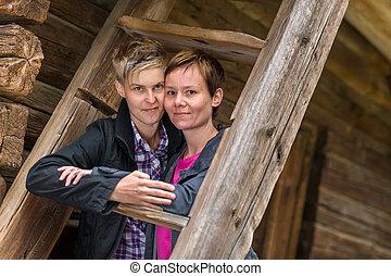 Zwei Lesben Auf Entdeckungstour