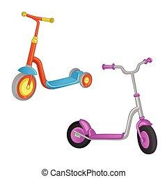 motorroller kinder design karikatur kinder. Black Bedroom Furniture Sets. Home Design Ideas