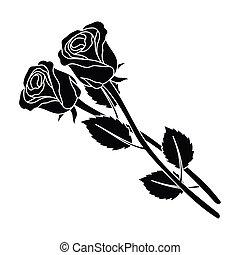 wei es schwarz zwei rosen. Black Bedroom Furniture Sets. Home Design Ideas