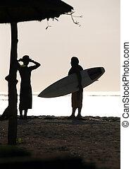 zwei, silhouette