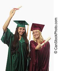 zwei, weibliche , hochschule, promoviert