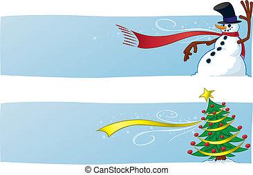 zwei, weihnachten, banner