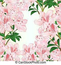 zweig, beschaffenheit, seamless, vektor, rhododendron, licht...