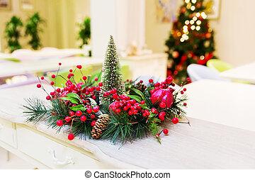 Zweige Kranz Baum Gr N Beeren Weihnachten Rotes