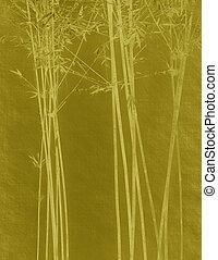 zweige, papier, hintergrund, silhouette, bambus