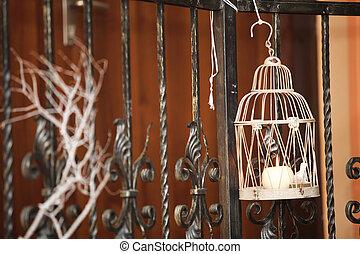 Zweige, Zimmer, Licht, baum, kerze, Dekorieren