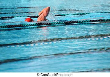 zwemmen, schoten