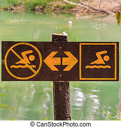 zwemmen, swim&don't, meldingsbord