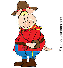 zwerver, pig., canadees