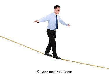 związać, balansowy, handlowiec