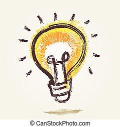 hell kugel punkt licht idee gelber stift zwiebel vektor clipart suche illustration. Black Bedroom Furniture Sets. Home Design Ideas