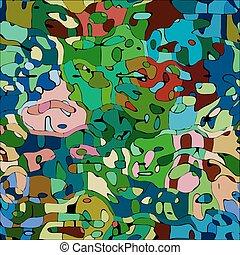 zwierzęta farbują, próbka, abstrakcyjny, wektor, mozaika