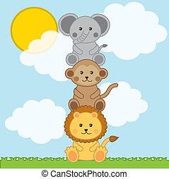 zwierzęta niemowlęcia