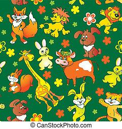 zwierzęta, pattern., seamless
