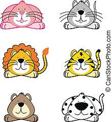 zwierzęta, rysunek, opakujcie