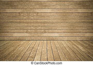 zwietrzały, podłoga, ściana, bocznica, drewno, tło